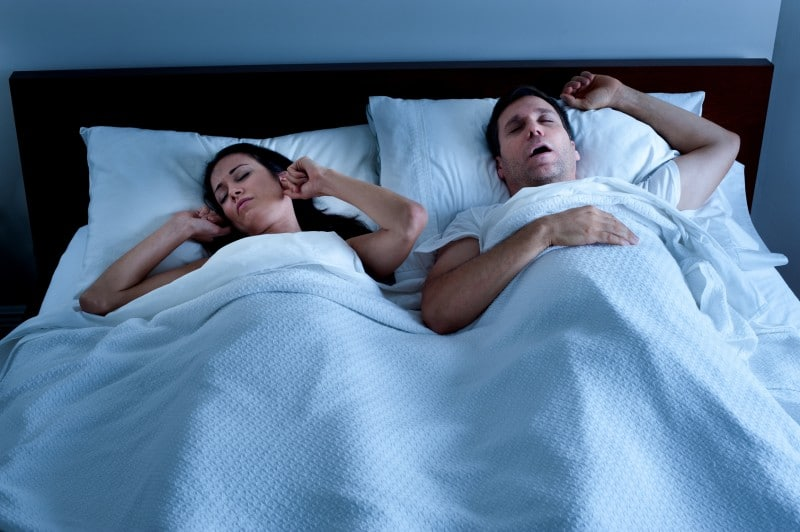 Snoring can increase around the holidays
